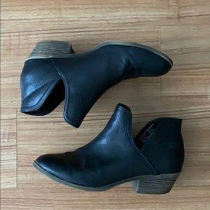 Black short booties